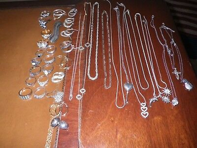 Mixed Lot of  Vintage To Now Sterling Silver Jewelry. *Not Scrap* 170.2 grams