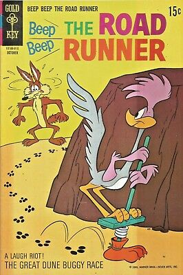 Beep Beep The Road Runner #14  Pogo-Stick Cover  Gold Key Silver-Age 1969 Nice!!
