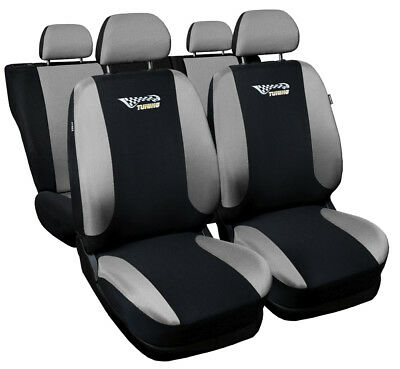 Full set car seat covers fit Ford Focus Mk2 Black/silver seat cover