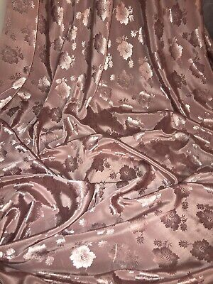 "1 Mtr Dusty Pink Floral Jacquard Dress Fabric...45"" Wide Special Offer £3.99"