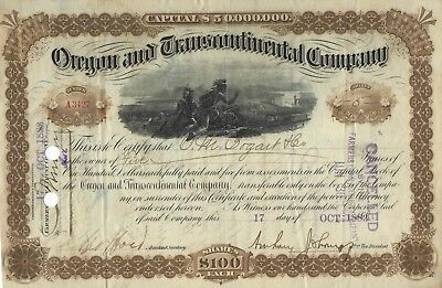 Oregon and Transcontinental Company (Aktie) -1893-