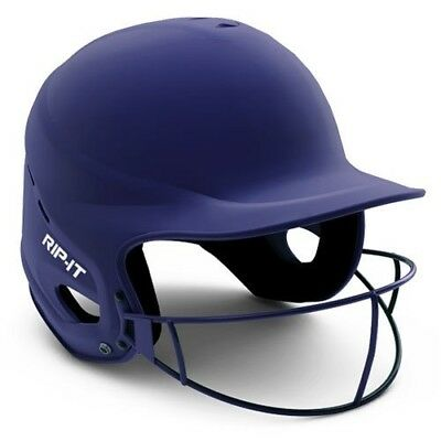 (Small/Medium, Matte Navy) - Rip-It Vision Pro Matte Softball Helmet. Best Price