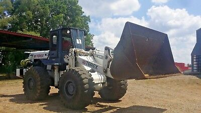 1993 Terex 60-C Front End Wheel Loader Snow plow loader Big bucket!! SEE VIDEO