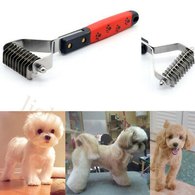 Pet Dog Cat Dematting Grooming Deshedding Trimmer Hair Fur Comb Brush Rake Tool
