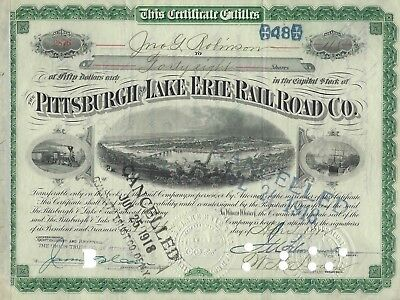 Pittsburgh and Lake Erie Railroad Co.(Aktie) -1917?-
