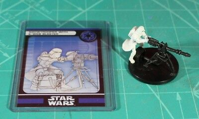 WOTC Star Wars Miniatures: Snowtrooper with E-Web Blaster - Rare, CotF 51/60