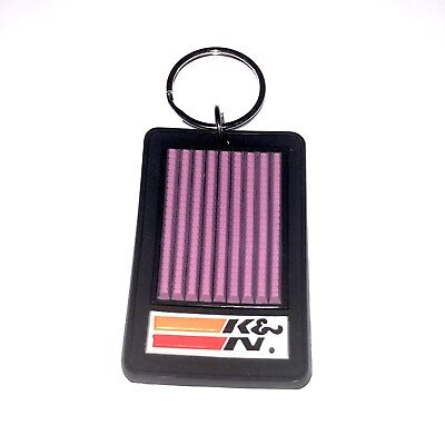 Vintage Hot Rod Racing K&N Automotive Air Filter Keychain You Can Feel The Power