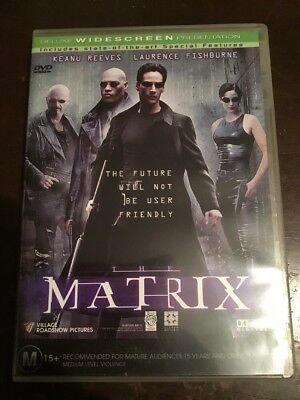 THE MATRIX Keanu Reeves Laurence Fishburne Like New DVD R4