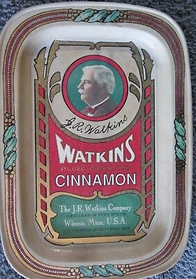 "JR Watkins 125th Anniversary Tray~Winona MN~7"" X 5"", 1/2"" Deep~Unknown Vtg~1993?"