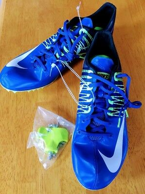 best service e628d d9f25 NEW Nike Zoom Celar 5 Track Sprint Spikes Blue Green 629226-413 Mens Size 13