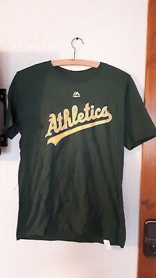 T-Shirt USA Majestic Josh Reddick Oakland Athletics Baseball 22 L grün