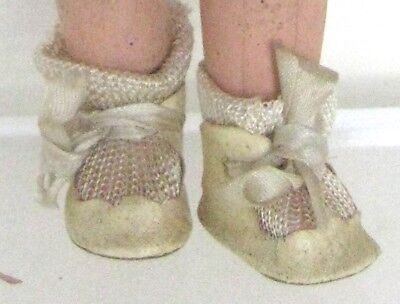 Antique EFFANBEE BABY TINYETTE TODDLER DOLL SHOES & SOCKS Patsy Family No Doll