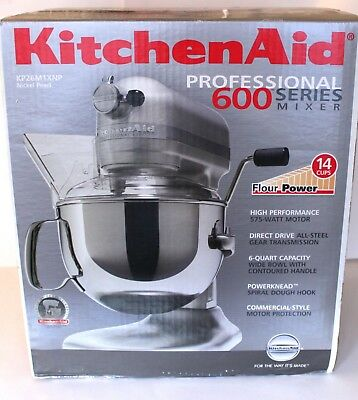 KitchenAid Pro 600 Series 6 Quart Bowl Lift Stand Mixer KP26M1XNP (Nickel  Pearl)