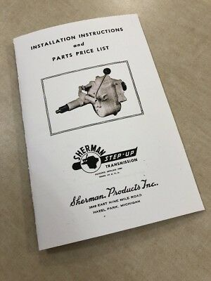 Ford 8N 2N 9N Tractor Sherman Step Up Transmission Install Parts Service Manual