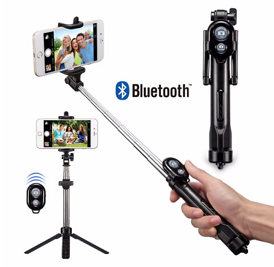 Mini Palo Selfie Stick trípode plegable 3 en 1 con Bluetooth, Mando a Distancia