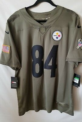 d6351f2a8 Pittsburgh Steelers Antonio Brown Nike Salute To Service Limited Jersey  Size L
