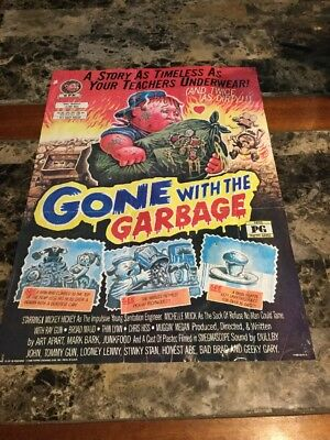 "Vintage 1986 Garbage Pail Kids GPK Gone With The Garbage #15 Poster 12"" X 17"""