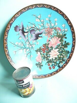 Large Antique Japanese Cloisonne Charger Dish...........................ref.1094