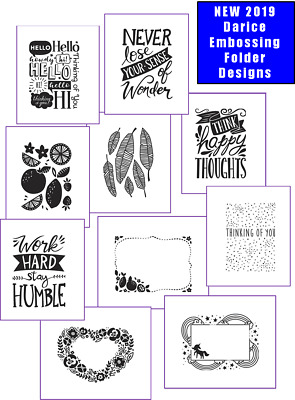 PRICED TO SELL -  NEW 2019 Designs & CLOSEOUTS - Darice Embossing Folders