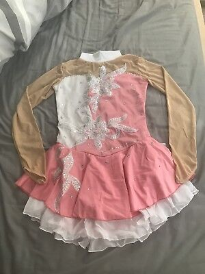 Brand New Girls Approx Age 8-10 Pink Stunning Ice Skating Dress
