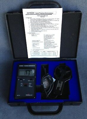 Extech Vane Thermo-Anemometer Field Master 451112 and Case - Used -  Fully Works