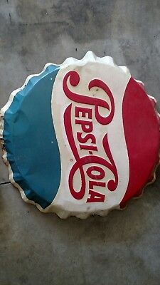 Pepsi bottle cap sign 28in