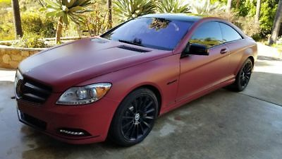 2011 Mercedes-Benz 500-Series CL550 Frozen red on gray, every option available