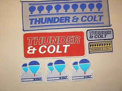 (7) Hot Air Balloon Patches Thunder & Colt