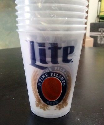 12 oz MIller Lite Plastic Disposable Cup - Sleeve of 50