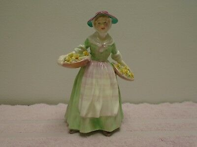 "Royal Doulton Figurine Daffy Down Dilly Hn 1712 8"" Tall"