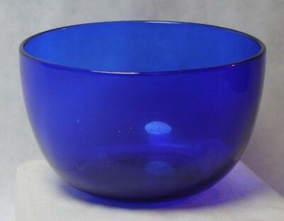 Antique English / Late 19th. Century Cobalt Blue Glass Bowl