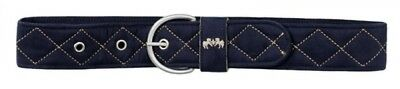 (Large, Chocolate/Tan) - Equine Couture Quilted Suede Belt. Best Price