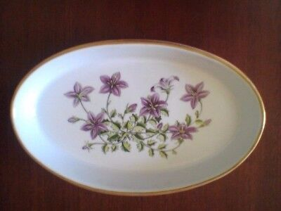 Spode Stafford Flowers Campanula Oval Baker Baking Dish Oven to Tableware