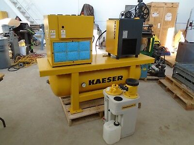 KAESER SX-6 Compressor System w/ TAH-6 Dryer and Anaquamat 2 condensate capture