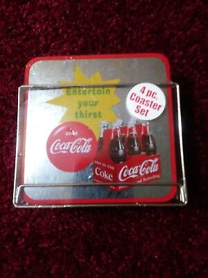 Coca Cola Coaster Set In Original Packaging