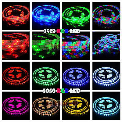 12V 5M LED 3528/5050 RGB SMD Flexible LED Strip Waterproof Party Room Light IP65