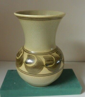 Pot Belly Vase Honiton England Pottery Hand Painted c.1970 Vintage