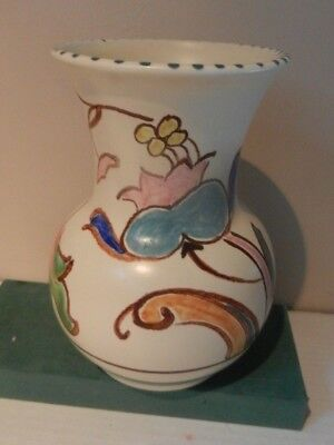 Pot Bellied Vase Jacobean pattern