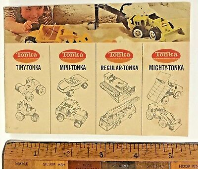 Vintage 1970S Tonka Tin Toys Aussie Mites Tiny Mini Regular Mighty Catalogue Vgc