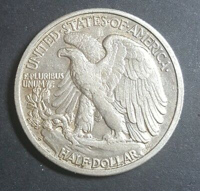 United States 1942 S Walking Liberty half dolar