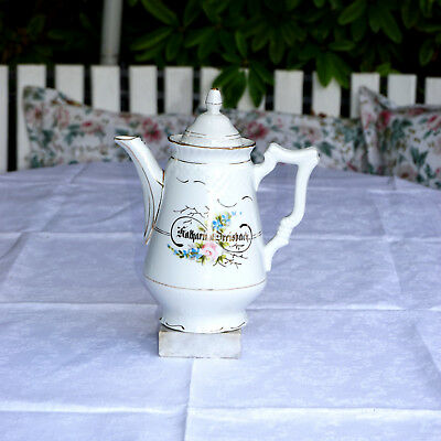 Antike Prunk-Kaffeekanne, um 1890 / Antique splendor coffeepot, around 1890, TOP