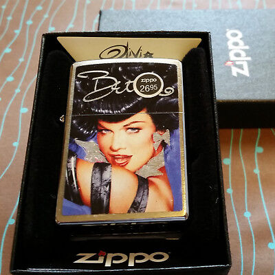Zippo 29584 Olivia Bettie Page Face Brushed Chrome 2018 Release NEW Lighter