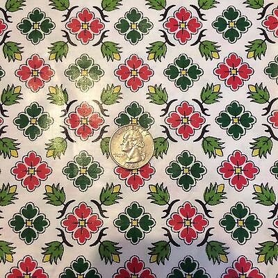"Vintage Polished Cotton Fabric Material 35"" long and 35' wide"