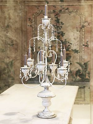French Antique Style Candelabra Huge Metal Dining