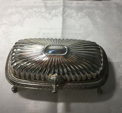 Vintage! Silverplate Roll Top Butter Dish