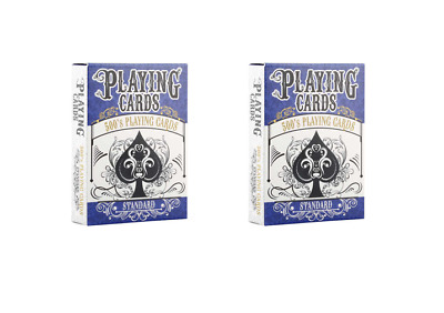 2 x DECKS 500's PLAYING CARDS 63 Card Deck Games Standard DECK 500's