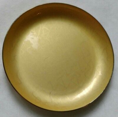 J Tostrup Norway Sterling yellow enamel gilt pin dish 1950's 6 cm hallmarked