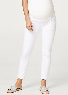 NEW - Esprit - Cropped White Maternity Jeans - Pregnancy