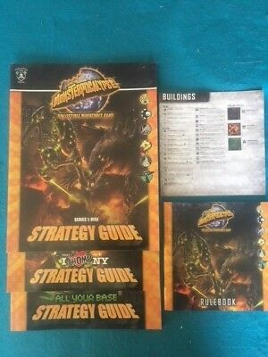 Monsterpocalypse Strategy guides Series 1,2,&3, Rules, and building descriptions