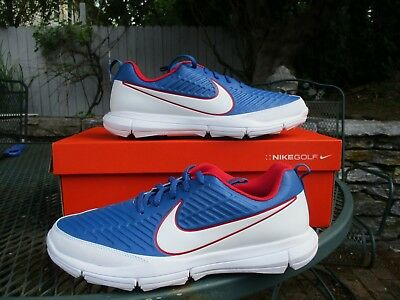 finest selection 405c3 bd44a Nike Men s Explorer 2 Spikeless Golf Shoes RED WHITE BLUE USA 849957-401  Sizes